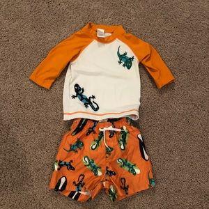 Gymboree swim trunks & swim shirt - various sizes